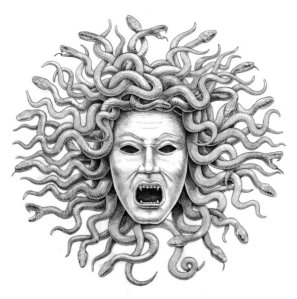 prepatory_drawing___medusa___by_rainerkalwitz-d3rvu8c